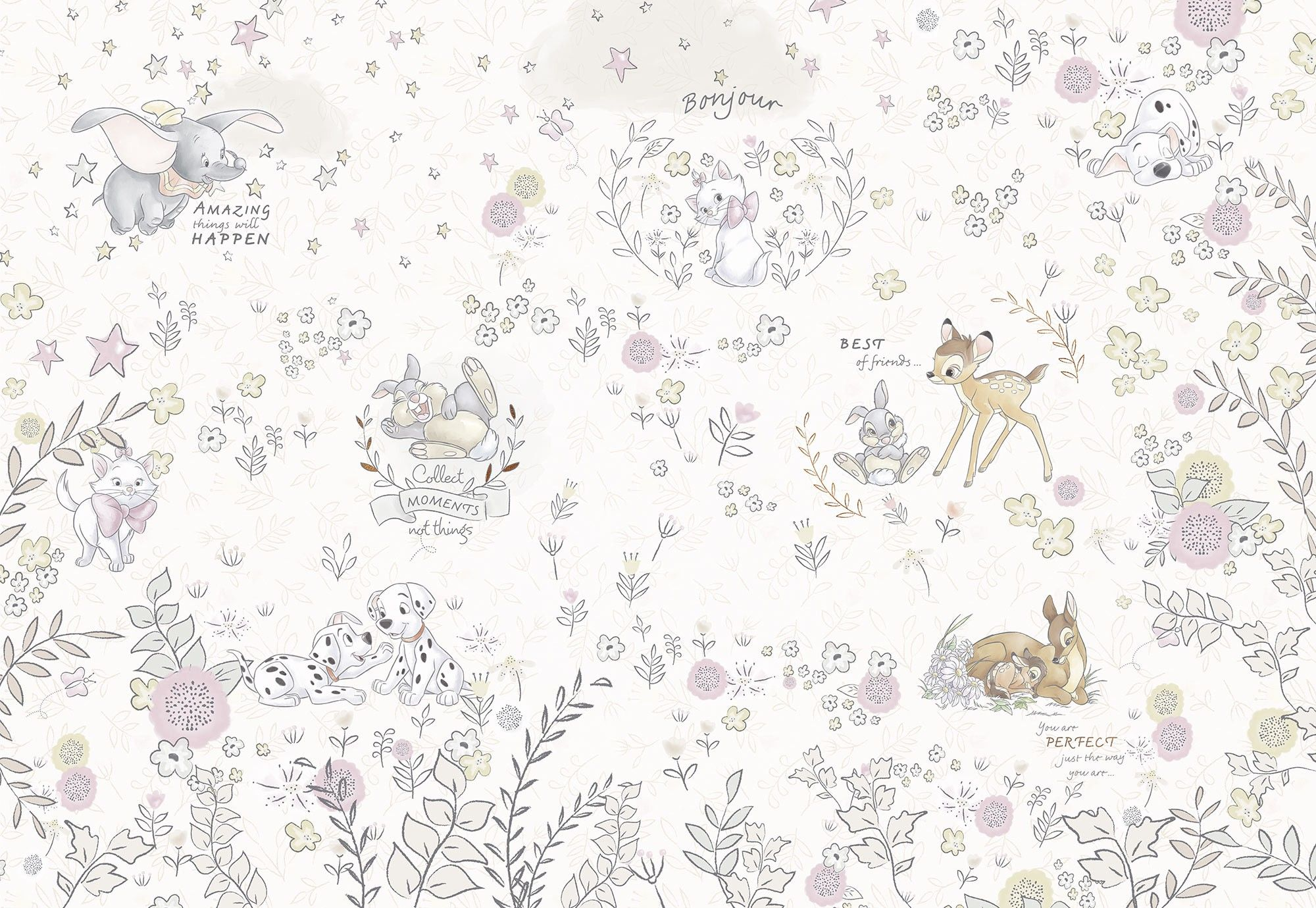 bambi \u0026 dumbo nursery wallpaper mural buy it now